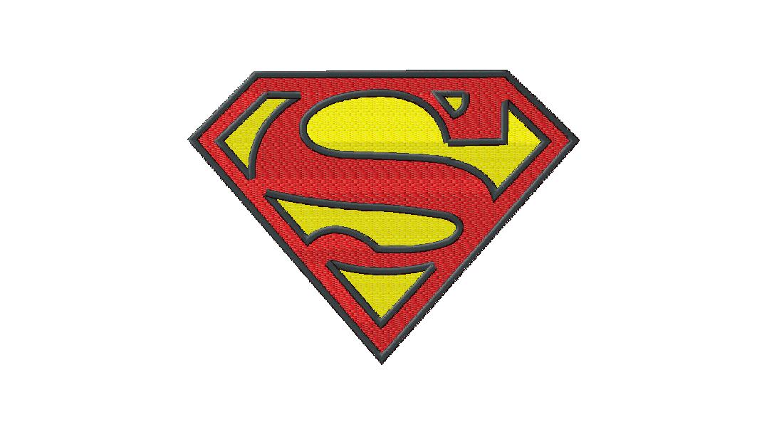 Free Superman Embroidery Design