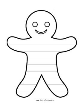 Best Photos of Gingerbread Face Template - Gingerbread Man Outline ...