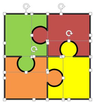 Puzzle 4 Pieces - ClipArt Best