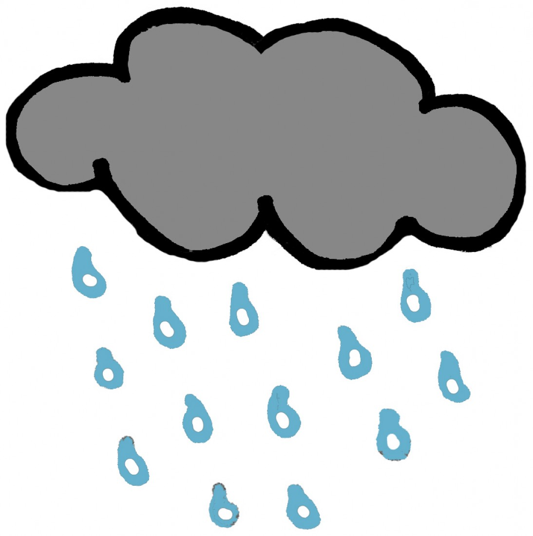 rainy clipart black and white clipart best