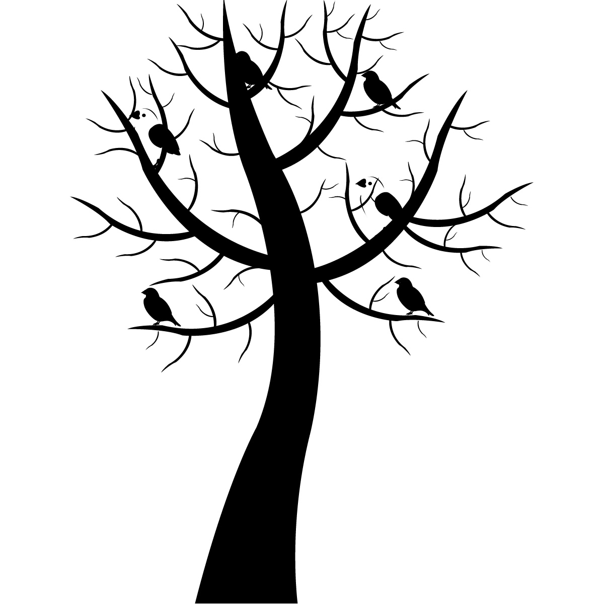 Line Art Of Tree : Line drawing tree clipart best
