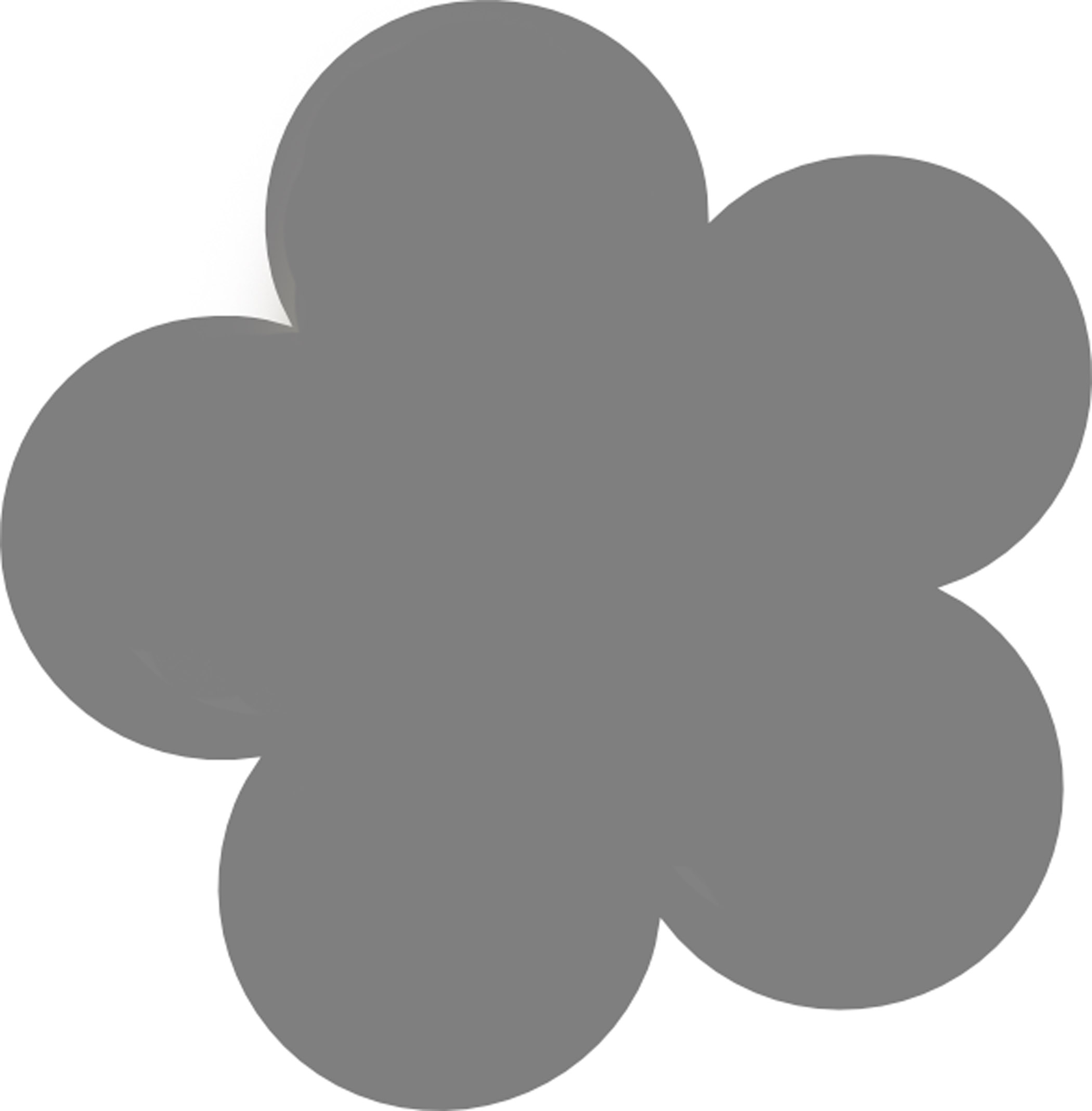 Simple Flower Stencil - ClipArt Best
