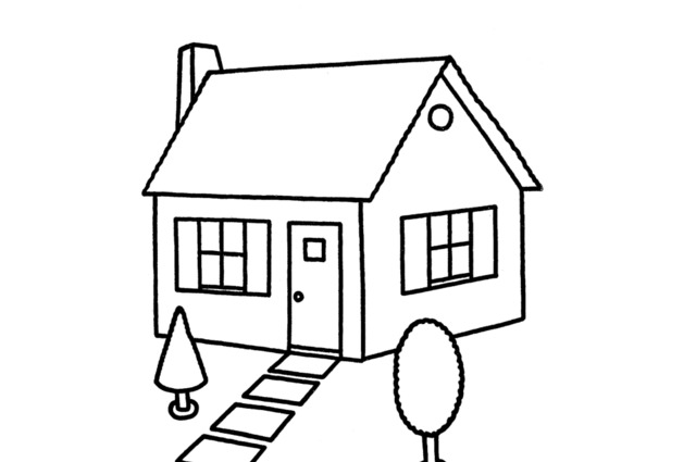 Simple drawing of a house clipart best Draw your house