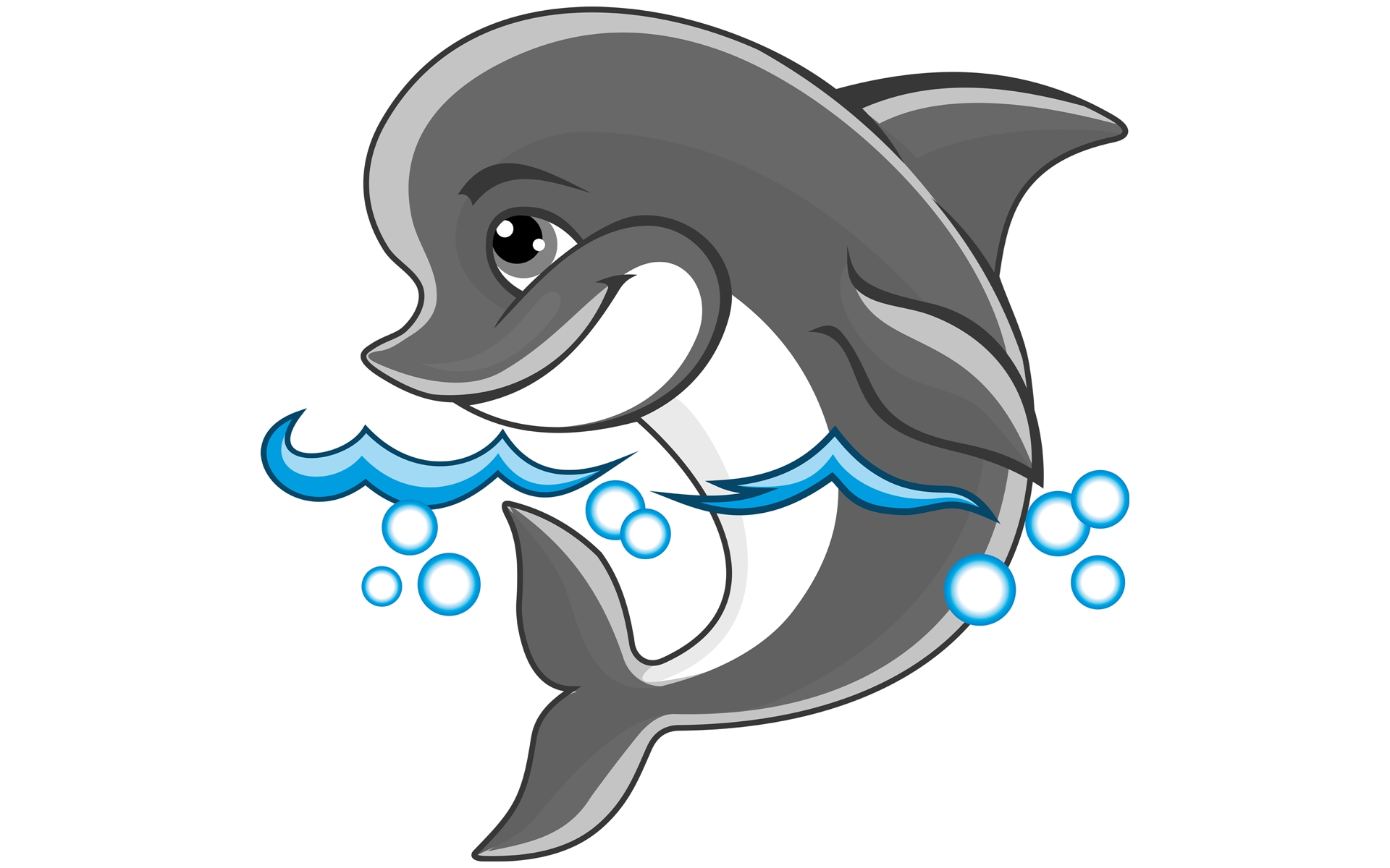 Pictures Of Cartoon Dolphins - ClipArt Best