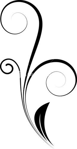 Swirl Line Design Clipart : Swirl design line clipart best