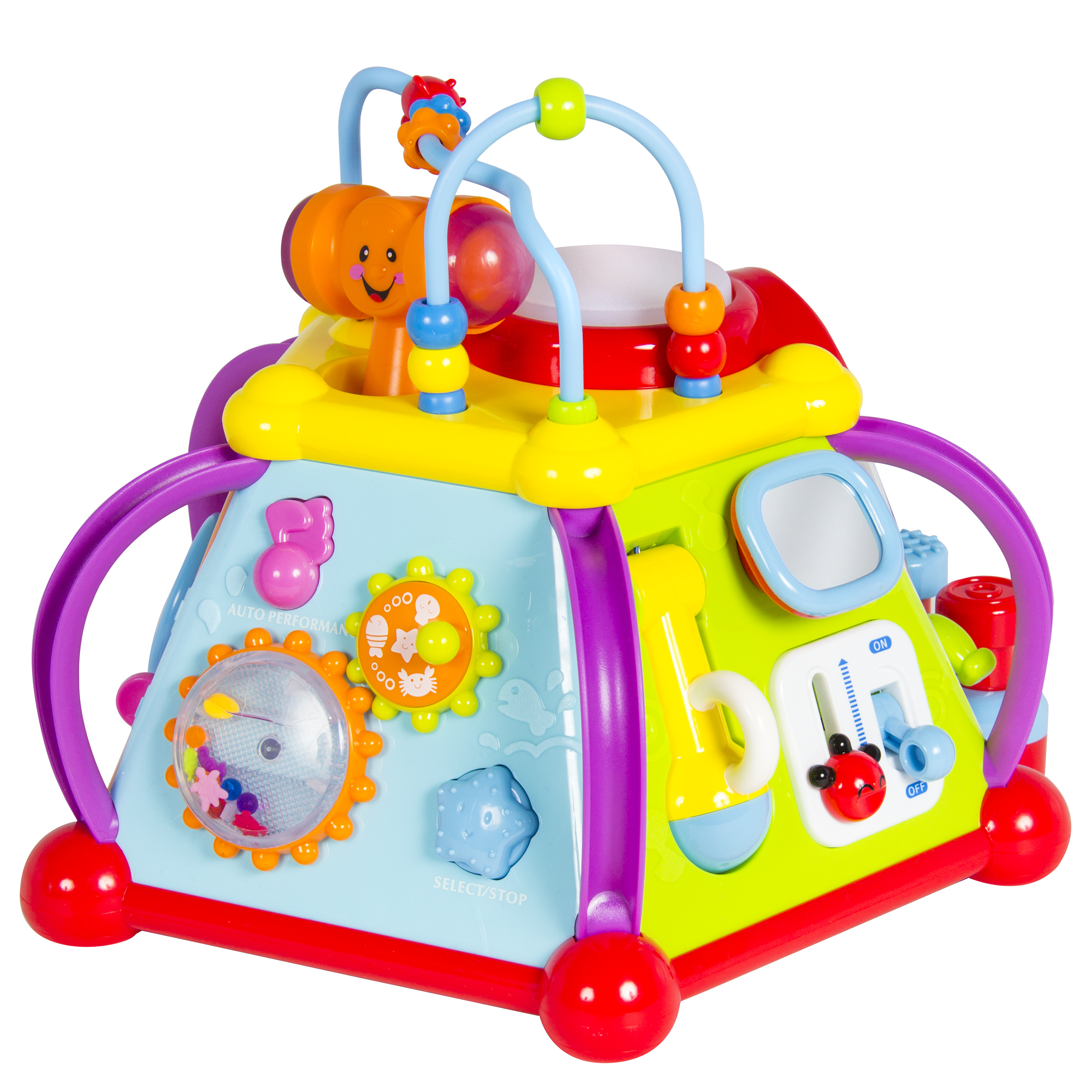 Baby Toy Musical Activity Cube Play Center with Lights,15 ...