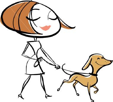 cartoon dog walking clipart best dog walking clip art - blonde boy dog walker clipart free