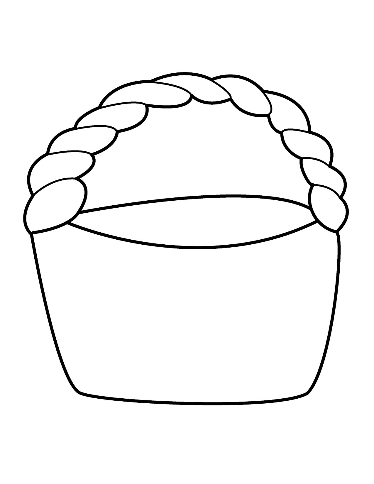 Easter Basket Template Free Printable - ClipArt Best