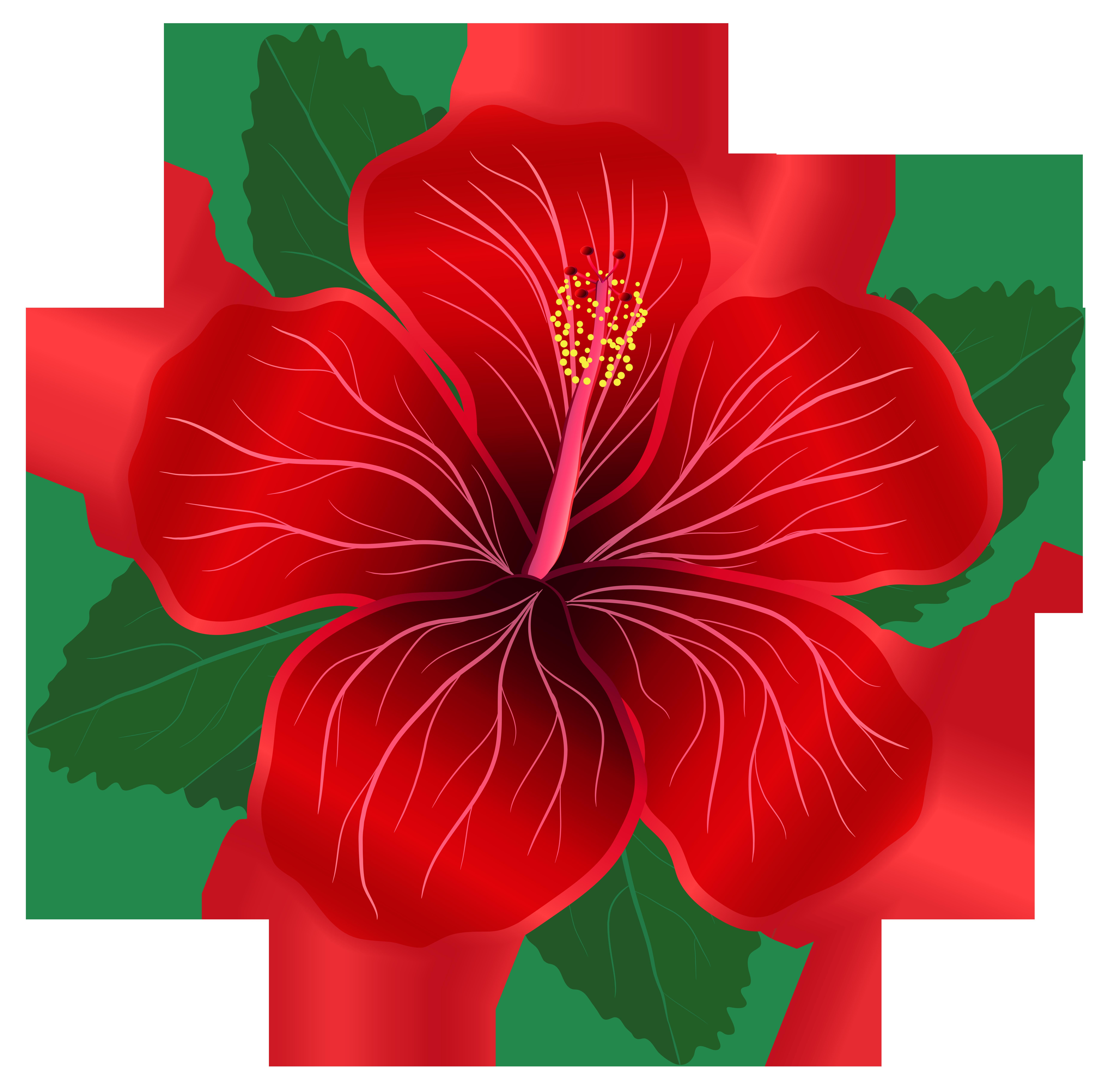 Red Flower Clipart - Tumundografico
