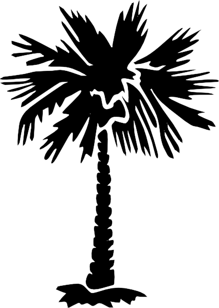 Palm Tree Silhouette clip art - vector clip art online, royalty ...