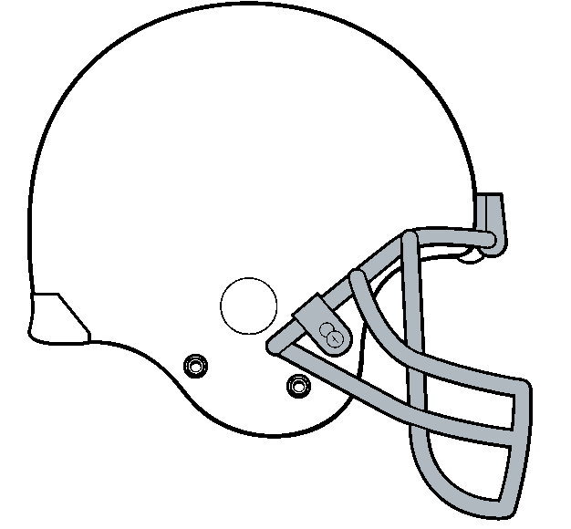 Football Helmet Outline Football Helmet Template Stock