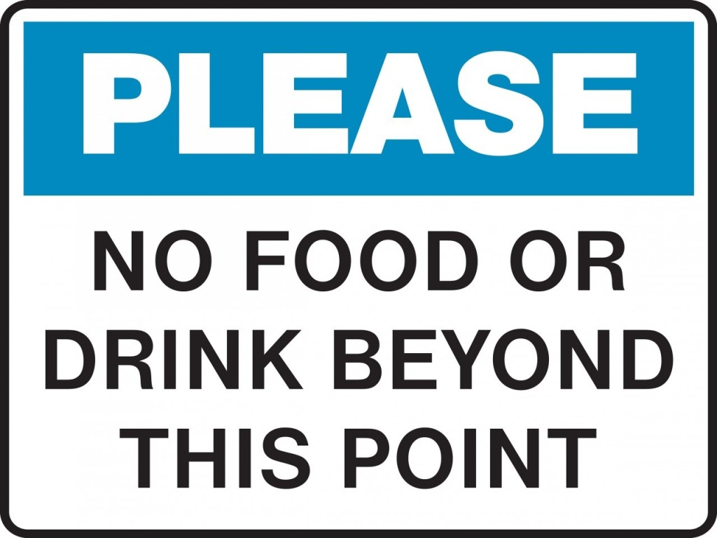 No Food Or Drink Sign Printable - ClipArt Best