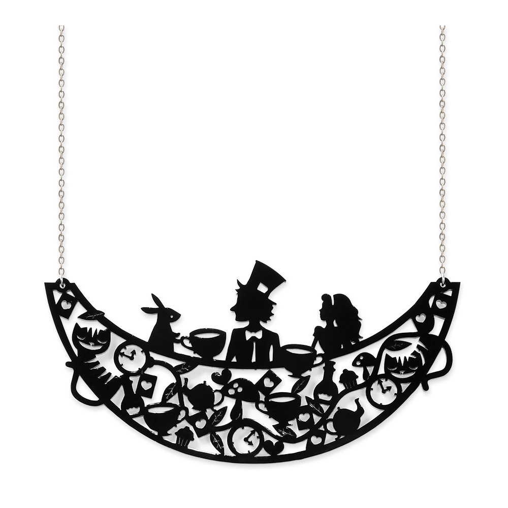 Falling Alice Silhouette Collar Necklace | Little Moose | Quirky ...