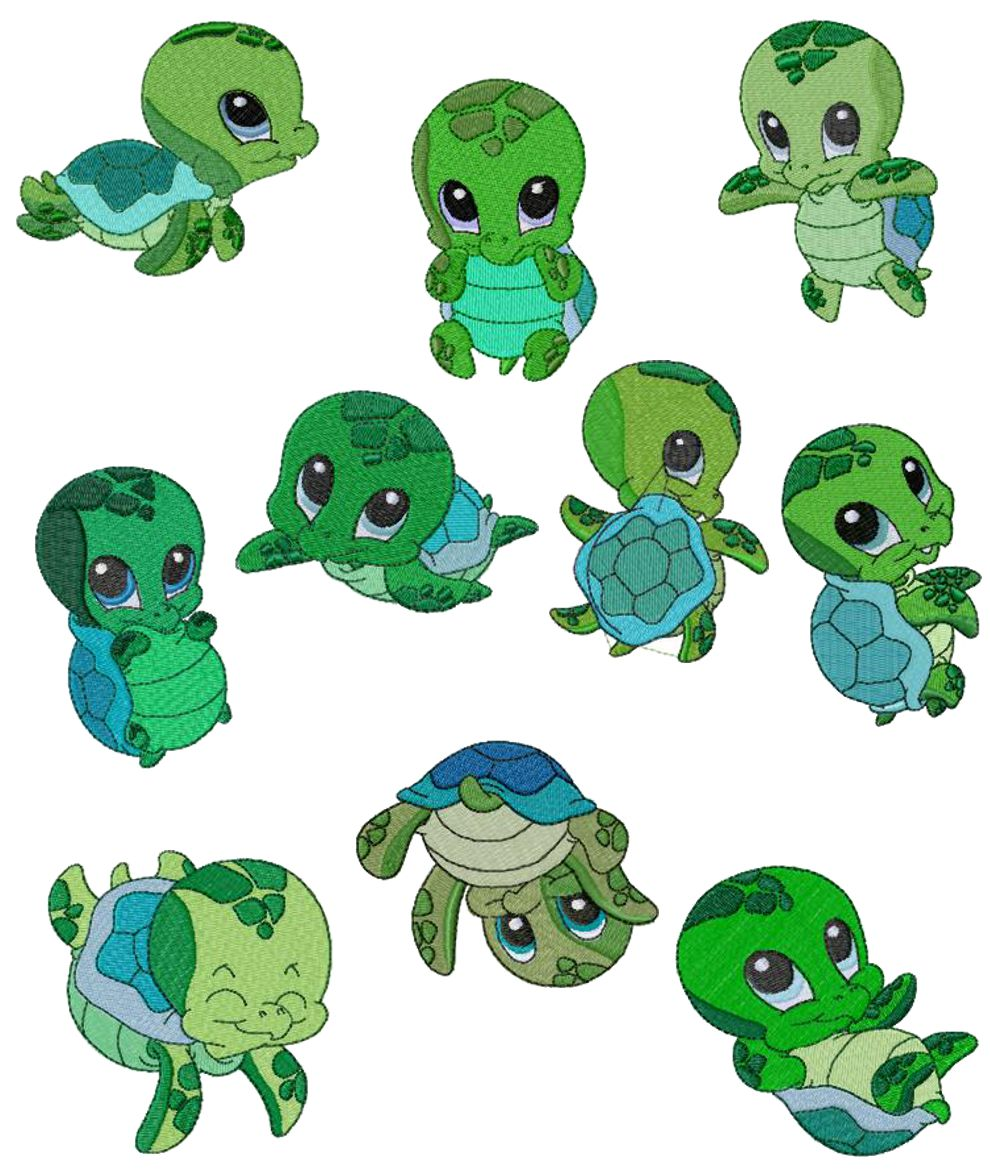 Cute Turtle Art - ClipArt Best