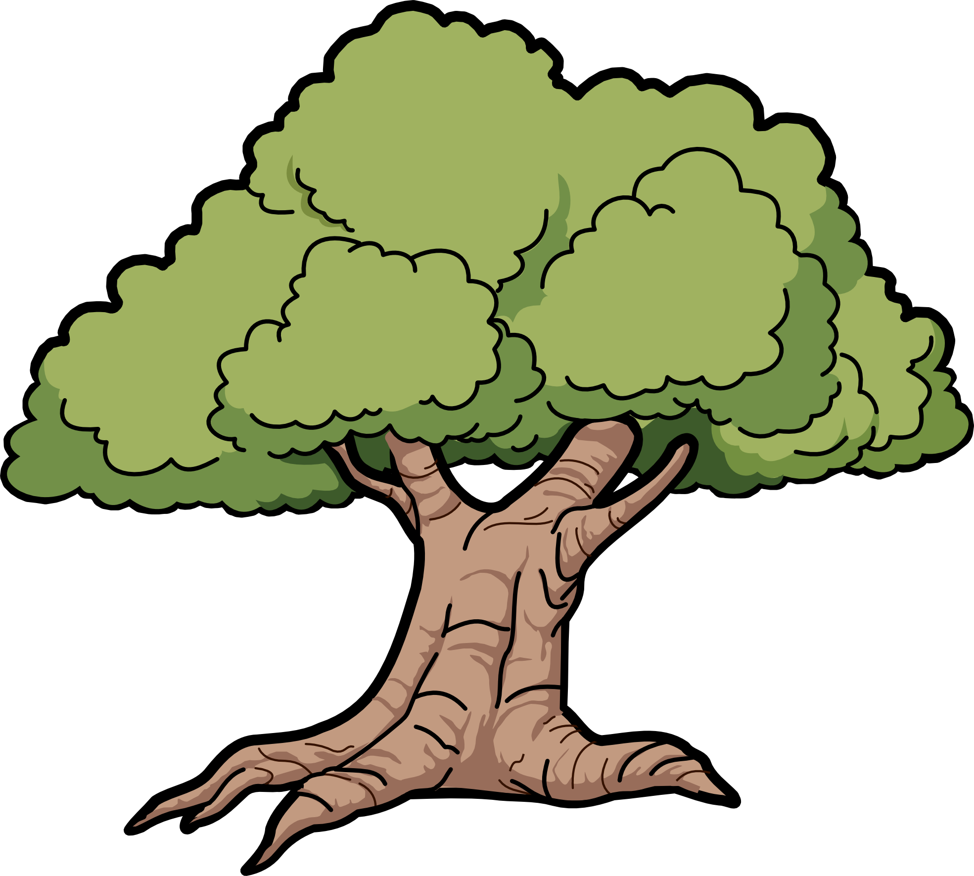 Cartoon Oak Tree Clipart - Cliparts and Others Art Inspiration