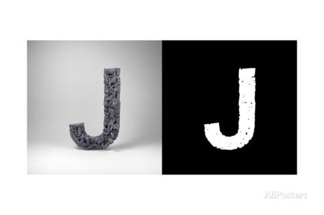 Letter J Art by badboo at AllPosters.com