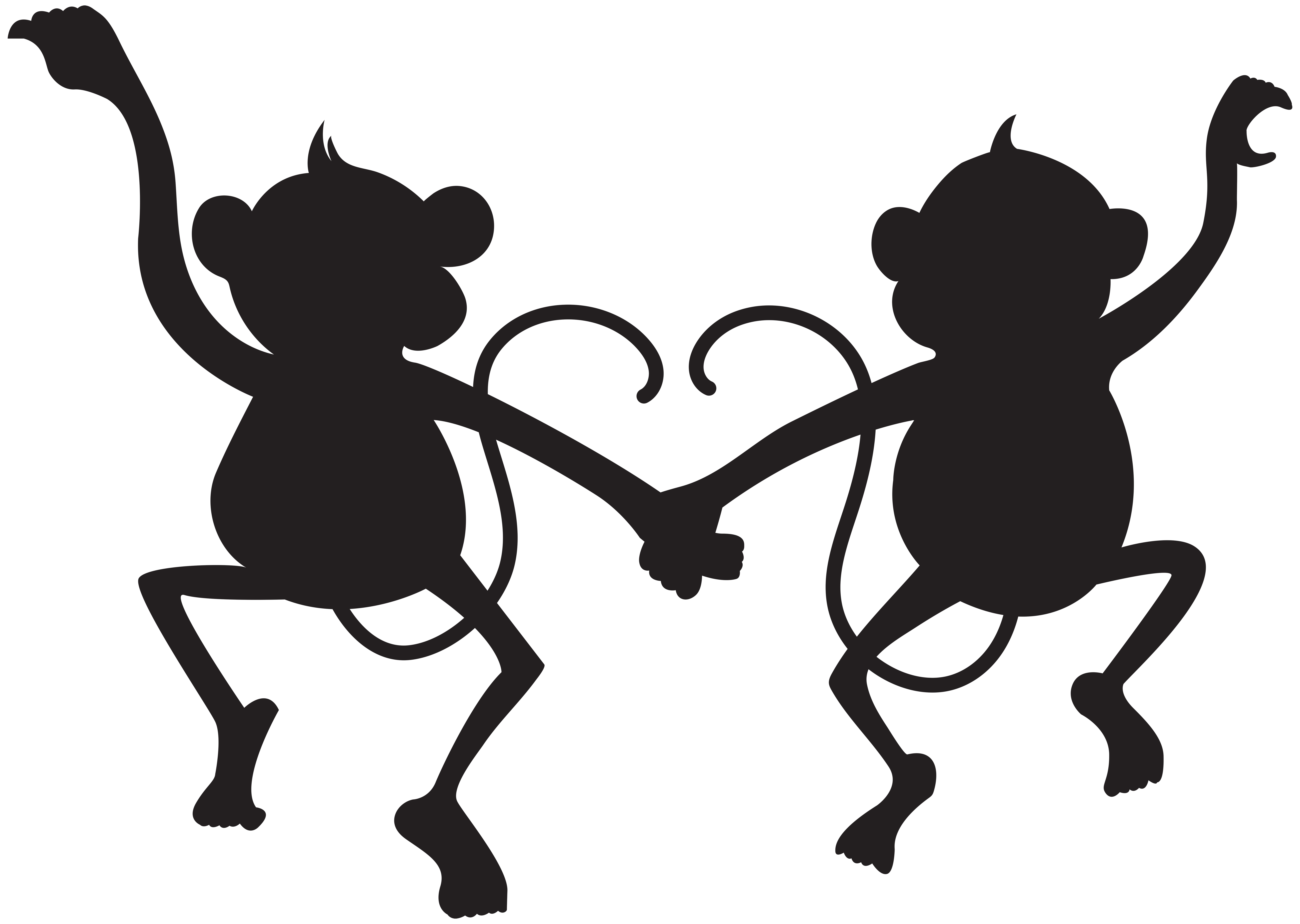 Monkey silhouette png - photo#7