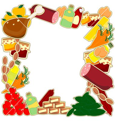 frames and borders food   clipart best