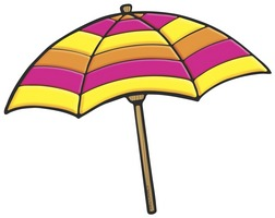 Yellow and Purple Beach Umbrella | Product Detail | Scholastic ...