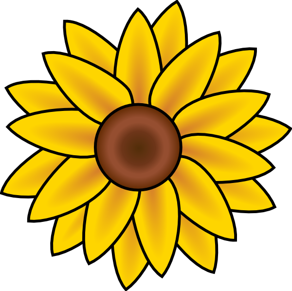 Sunflower Drawings - ClipArt Best