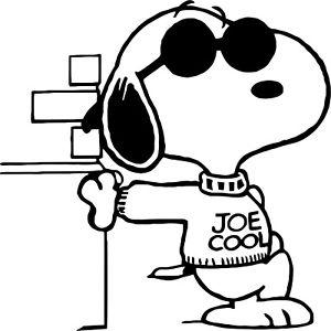 Snoopy 'Joe Cool' vinyl car bike sticker decal graphic: www.clipartbest.com/snoopy-joe-cool