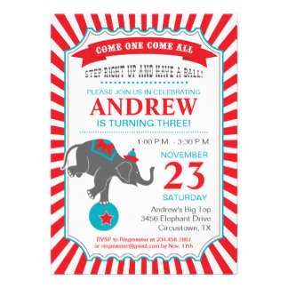 Circus Theme Invitation Templates for perfect invitations layout