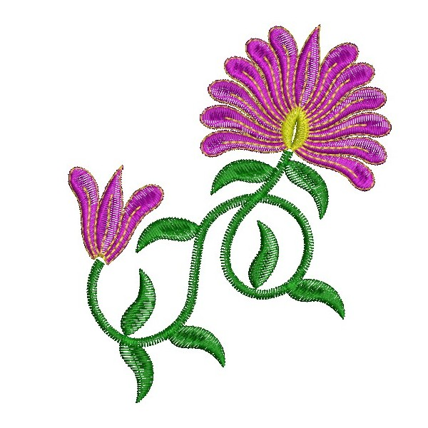 Flower Embroidery Design  ClipArt Best