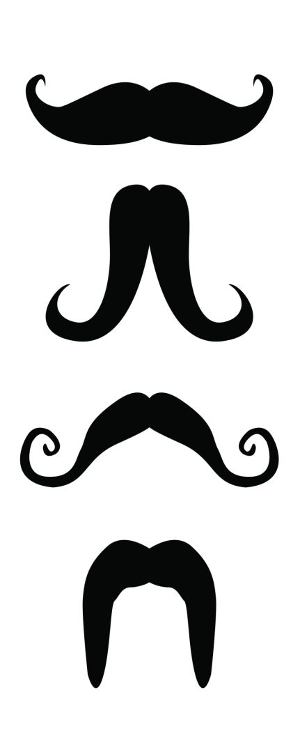 Modest image within printable mustaches