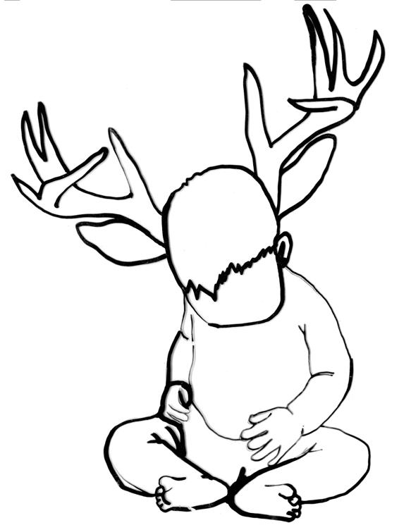 Line Drawing Deer : Deer line drawing clipart best