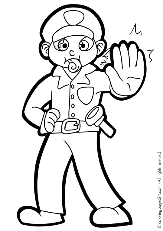 Police Station Coloring Pages Police Officer Coloring Pages