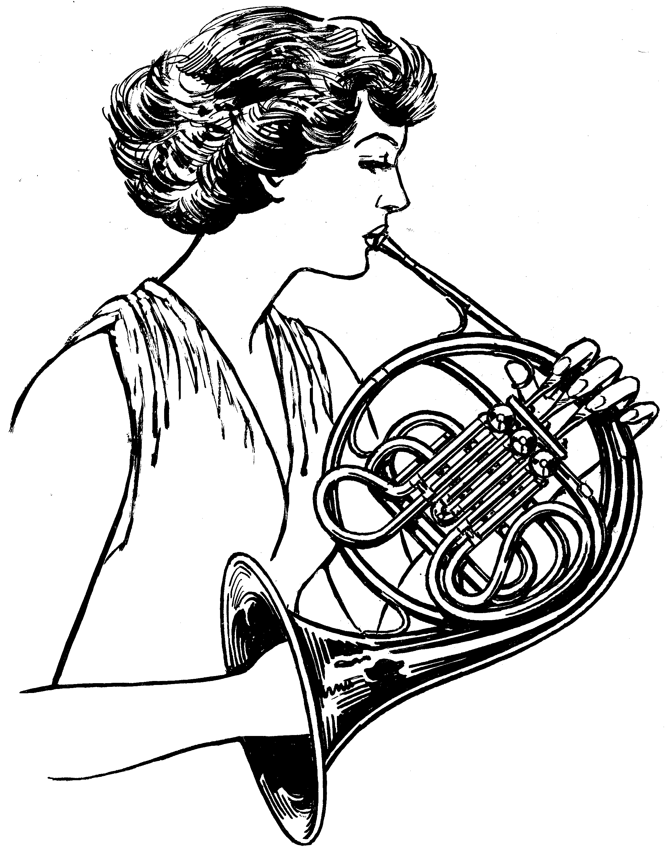 Can t find the perfect clip-art French Horn Clipart