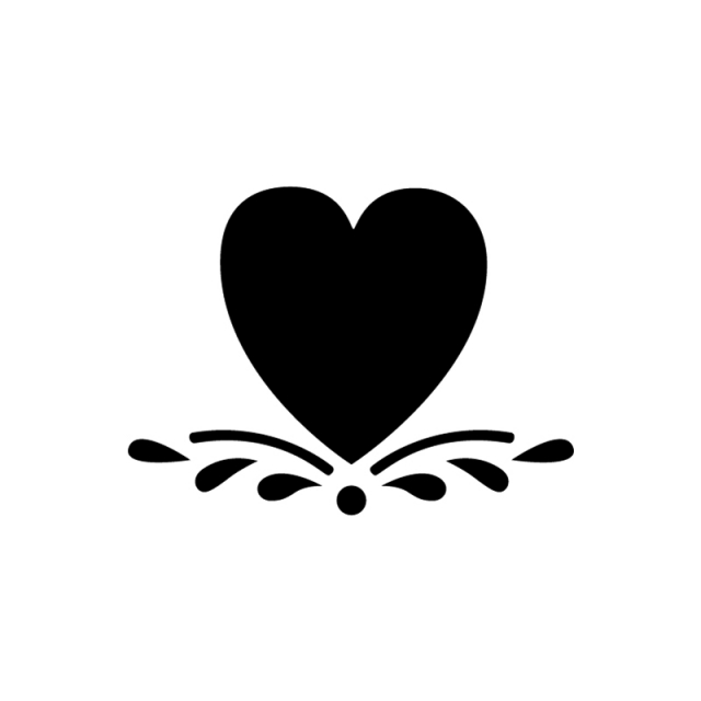 Large Heart Stencil - ClipArt Best