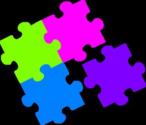 Jigsaw Puzzle Color clip art - vector clip art online, royalty ...