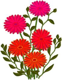 animated flowers: