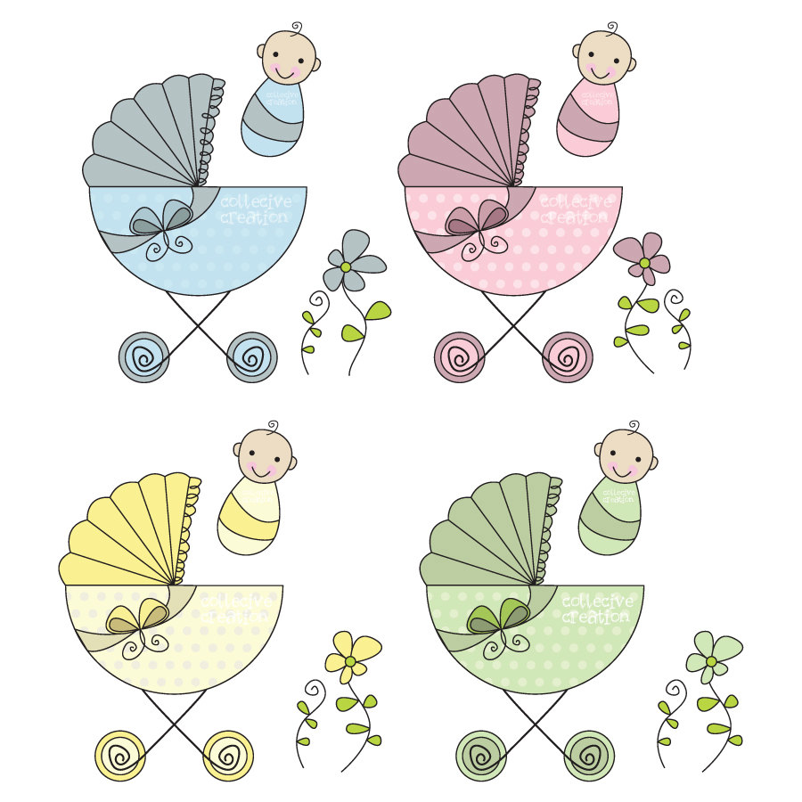 Baby Shower Twins Clip Art ~ Twin baby clipart best