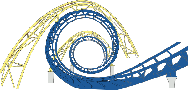 Pics For > Roller Coaster Loop Cartoon