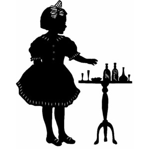 Alice In Wonderland Silhouette Print - Polyvore