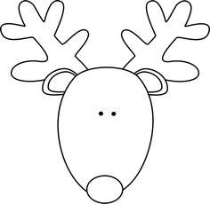 Reindeer Head Template - ClipArt Best