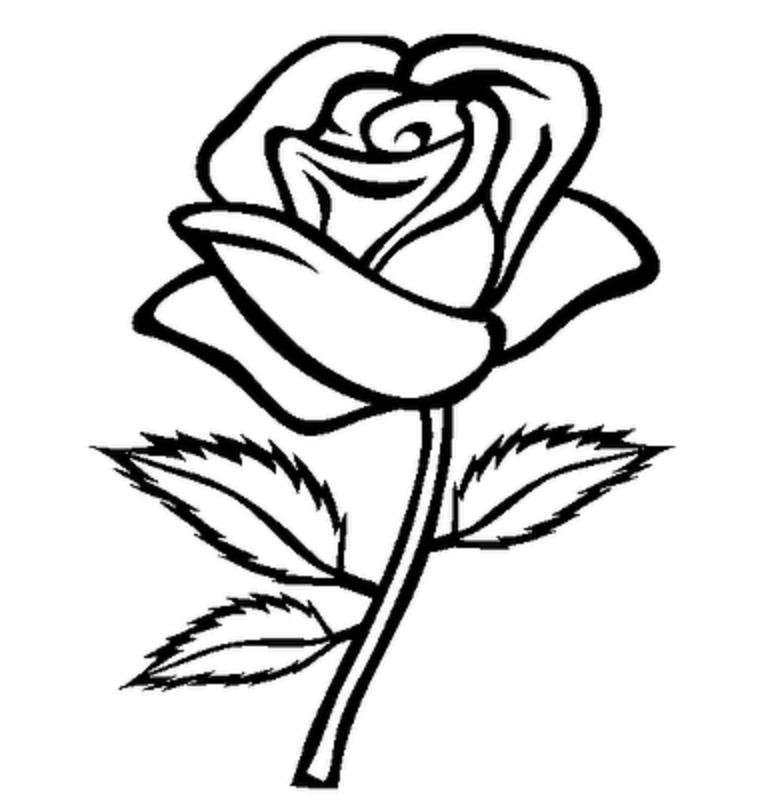 Best Rose Outline #5779 - Clipartion.com