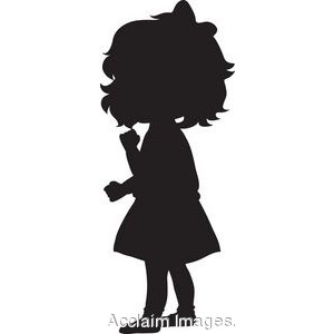 Clipart girl silhouette