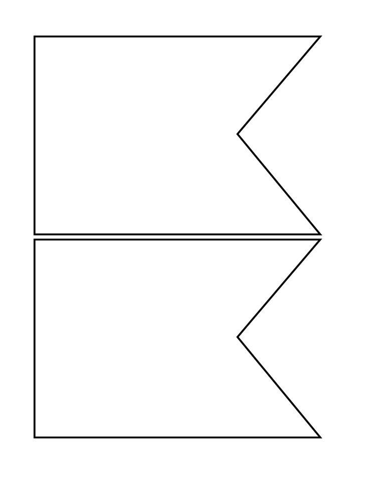 Flag template. Printable banner clipart best