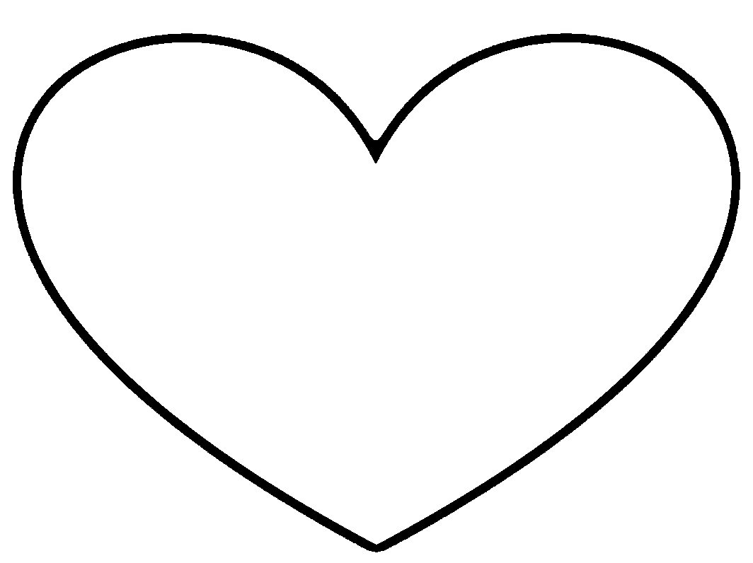 full page heart template - full page heart template printable clipart best