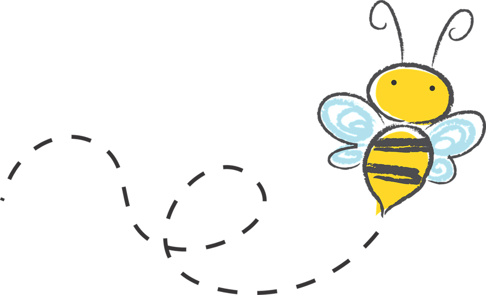 Buzzing bumble bee clipart