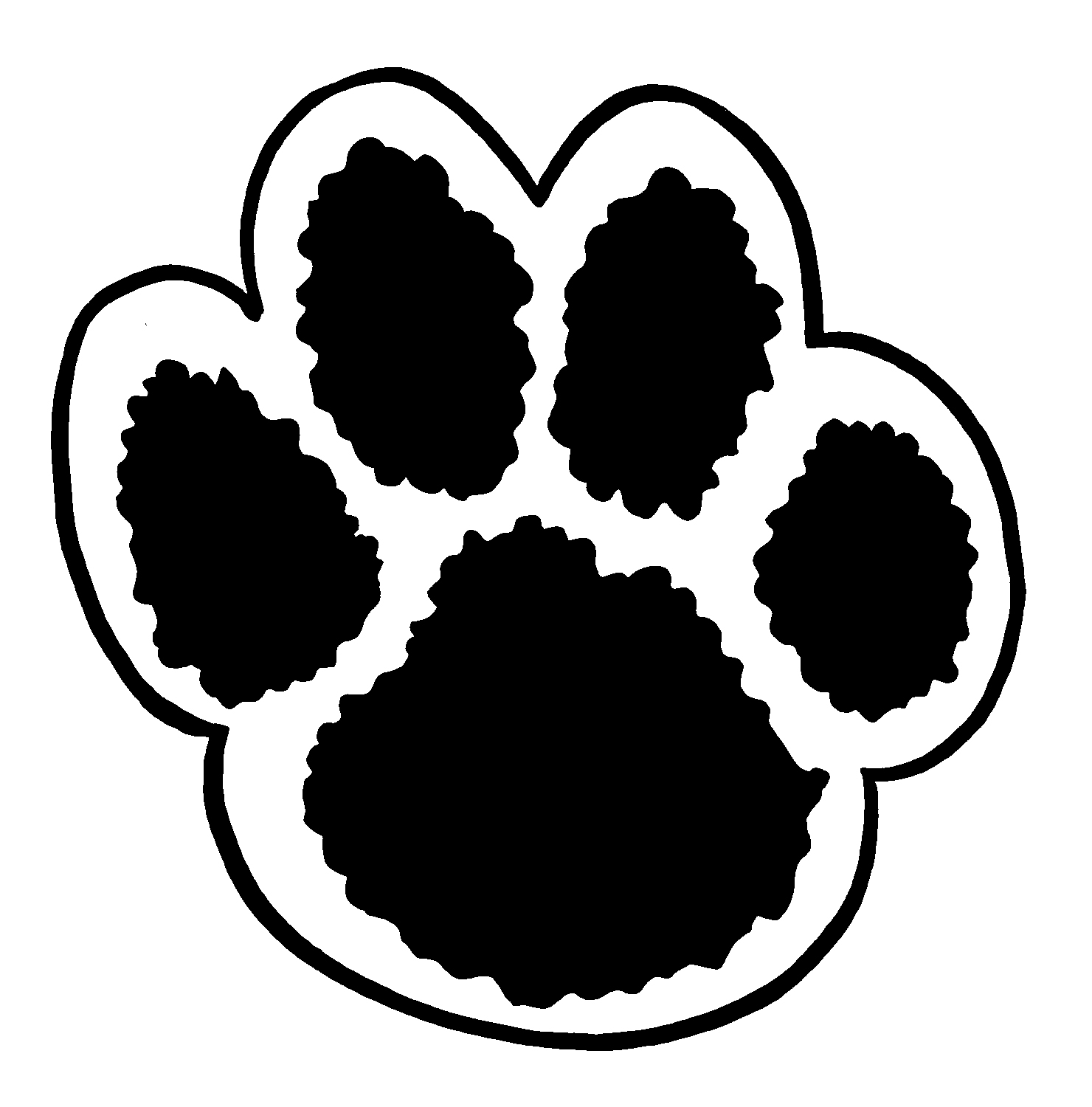 Grizzly bear paw print template clipart best for Bear footprints template