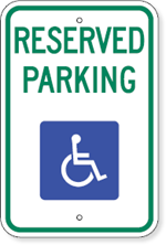 Hadicap sign clipart best for Handicap parking sign template
