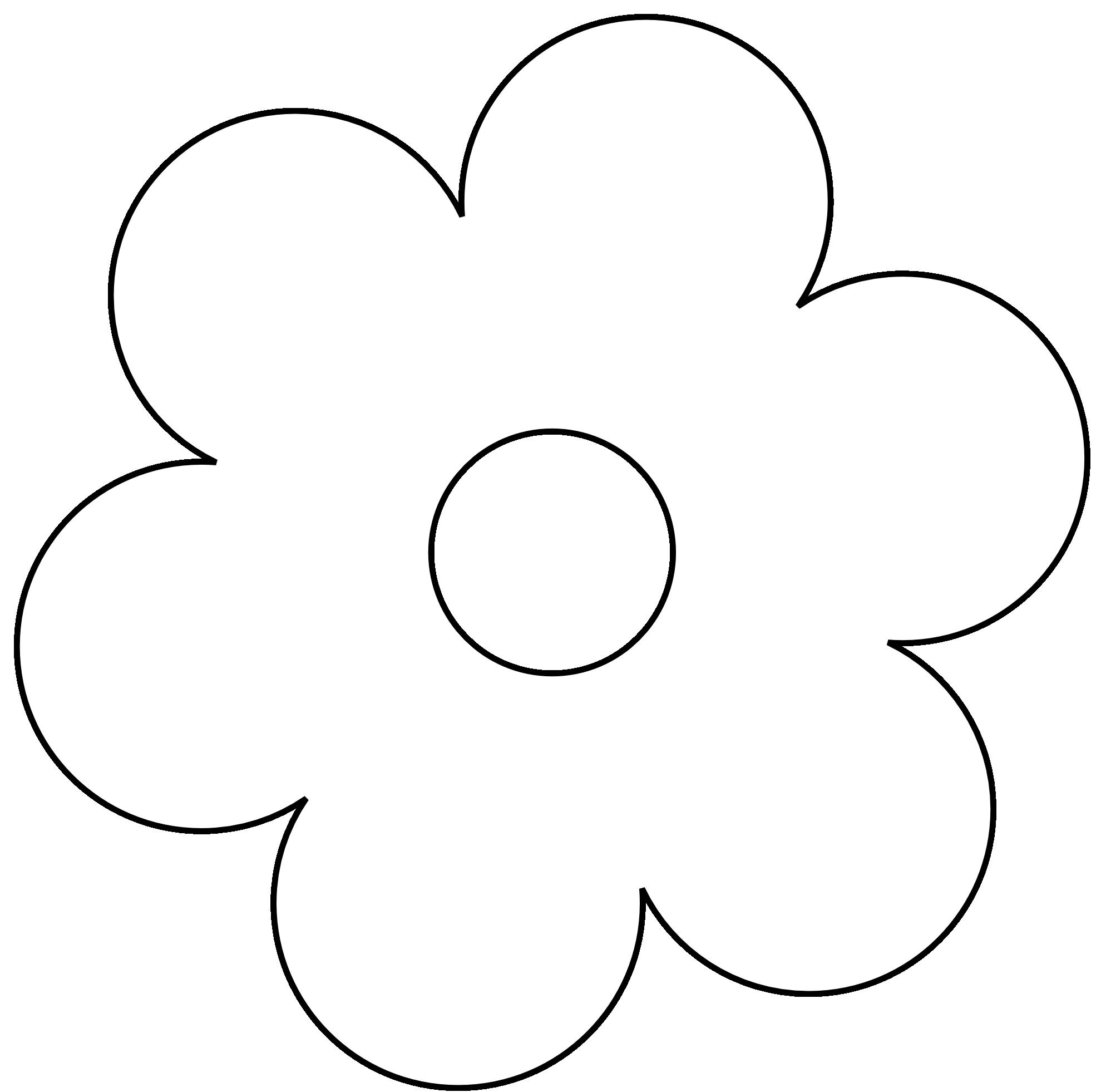 Line Art Flower Stencil Designs : Free printable flower stencils clipart best