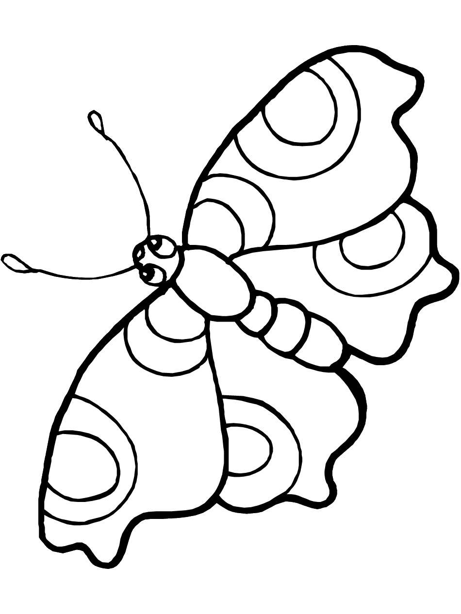 simple butterfly coloring pages clipart best
