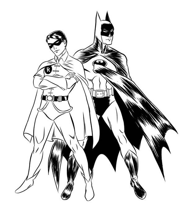 Batman coloring pages clipart best for Batman robin coloring pages