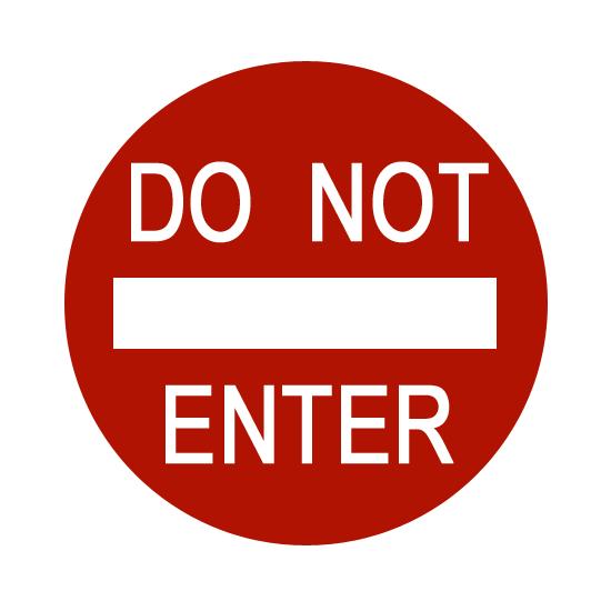 Do Not Enter Sign Printable - ClipArt Best