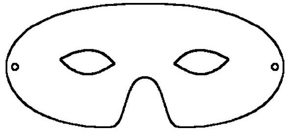 This is an image of Playful Mask Print Out